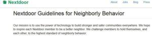 Nextdoor Guildlines