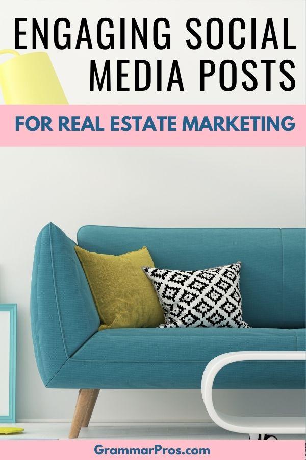 real estate on social media image of sofa