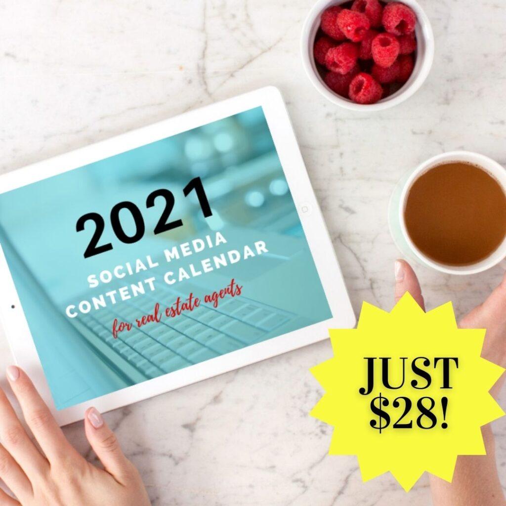 real estate social media content calendar